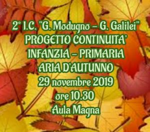 Progetto continuità Infanzia-Primaria Aria d'autunno
